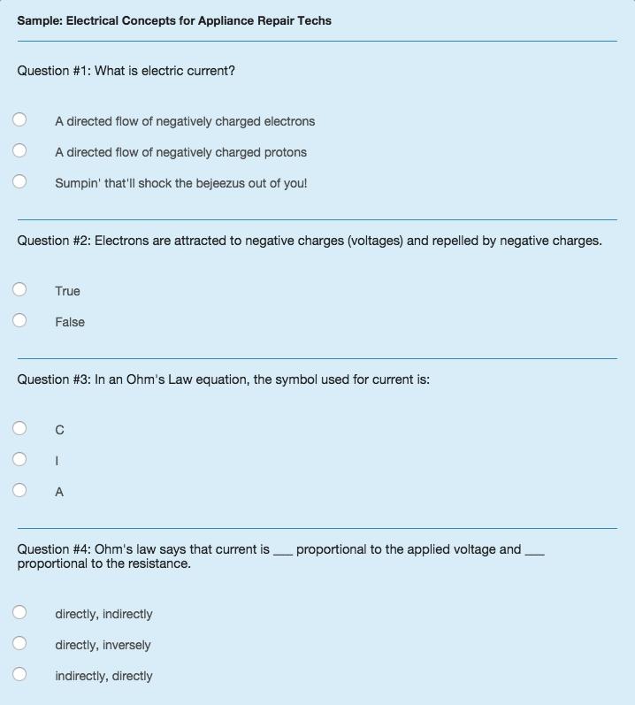 Sample quiz 1